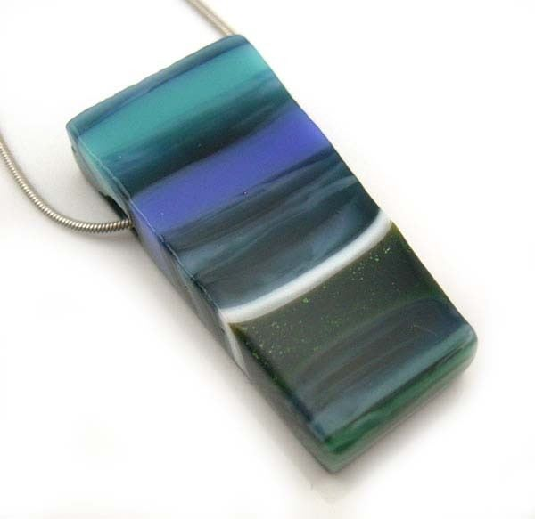 Calming Fused Glass Pendant