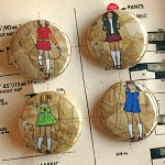 Red Shoe Girls badges - set 2