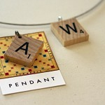 Vintage Scrabble pendant - choose your own letter