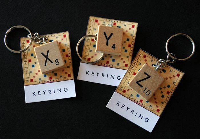 Vintage Scrabble keyring - choose your own letter