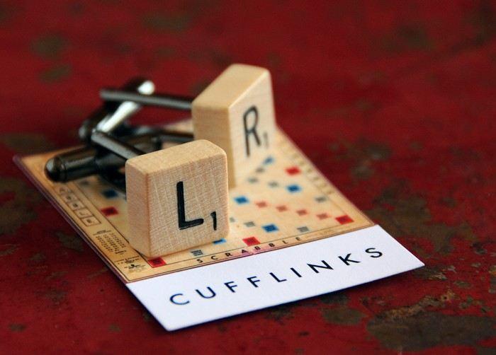 Vintage Scrabble cufflinks set