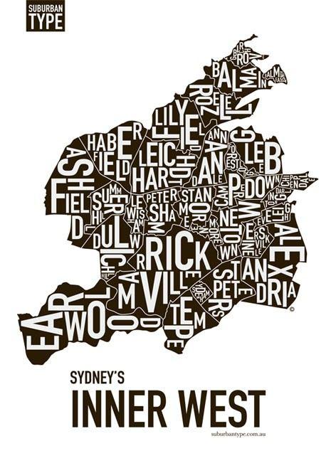 Inner West Suburban Map