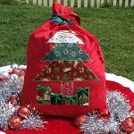 Christmas Tree Santa Sack - Personalised