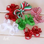 Christmas Annie Baby Bow