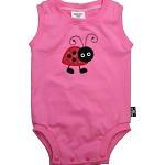 SIZE 1 (12-18mths) Handmade Baby Sleeveless Bodysuit... Ladybug