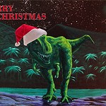 Dinosaurs in the Night Sky - Xmas Cards