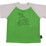CLEARANCE... Size 00 Lime and White T-shirt... Sail Boat