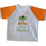 CLEARANCE... SIZE 00  Long Sleeve Handmade T-shirt LITTLE MONSTER
