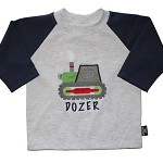 CLEARANCE... SIZE 0  Long Sleeve Handmade T-shirt DOZER