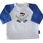 CLEARANCE... SIZE 000  Long Sleeve Handmade T-shirt PIRATE