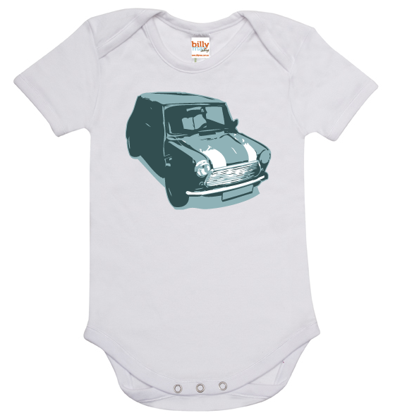 Mini Cooper Baby Onesie Romper White 0 00 Or 2 Size Billy Mac Clothing Madeit Au