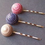 Trifecta Bobby Pin Set. Vintage Dome Cabochons