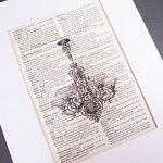 SALE Chandelier Vintage Dictionary Page Art Print