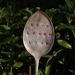 Vintage Silver Spoon Garden Marker  - Custom Phrase