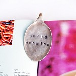 Vintage Silverware Book Mark / Page Clip / Cookbook Holder