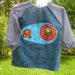 Art smock for age 3-4 years, Train, James. S11.