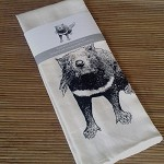 Tea towel - screen printed Tasmanian Devil