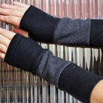 Tubeway Armies Arm Warmers- Black and Grey Stripes