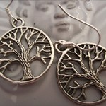 tree of life earrings silver  tone earring check store for matching necklace