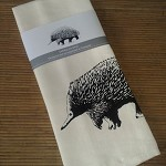 Tea towel - screen printed echidna
