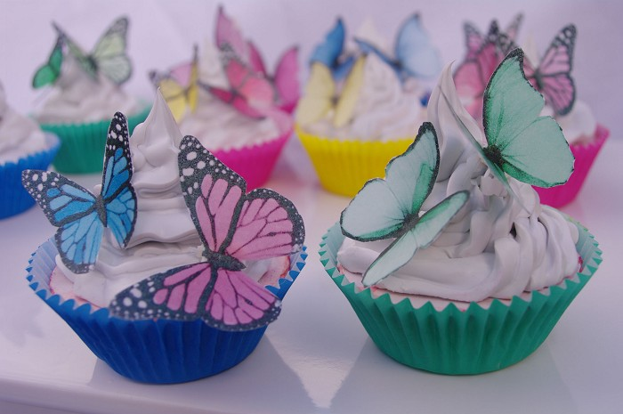 Butterfly Cupcake Images : Edible Butterfly cupcake toppers 20pc Mixed species 3D ...