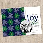 Printable Custom Christmas Photo Card - Christmas Joy
