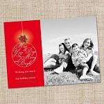 Printable Custom Christmas Photo Card - Merry & Bright Christmas