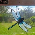 dragonfly insect bug Suncatcher window sticker/decal stained glass style