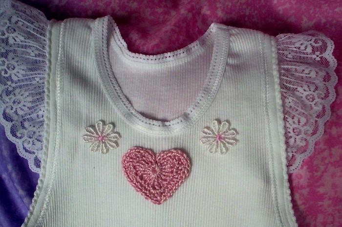 Spring Summer Singlet Embellished Baby Singlet Crochet Hoot