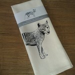 Tea towel - screen printed Tasmanian Tiger