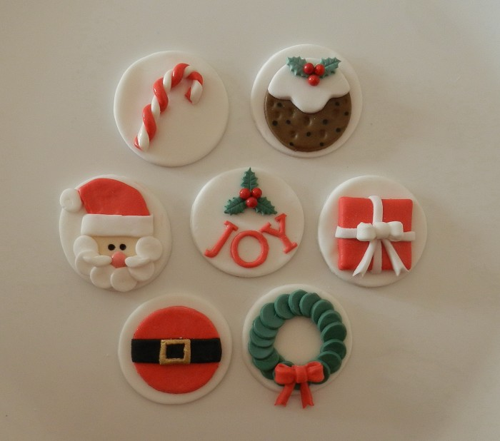 Christmas Edible Cupcake Toppers