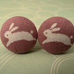 Leaping bunnies cufflinks