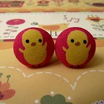 Yellow chickies cufflinks