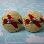 Red planes cufflinks