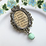 Brooch Elizabeth Bennet Accessories Crown Cameo Pride Prejudice Mint Green