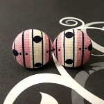 Pink dots and lines cufflinks