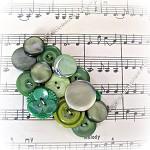 SALE Verdant necklace Button bib statement Green emerald apple lime Flower