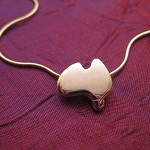 Lil Aussie - Handmade Sterling Silver Pendant with Snake Chain