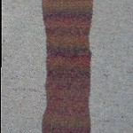 Woollen Scarf - variegated brown