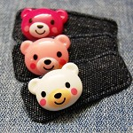 Cute Denim Teddy Hair Clip