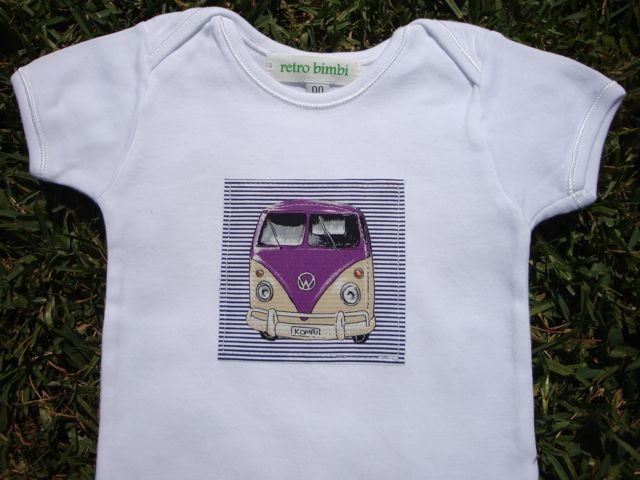 Baby t shirt with combi applique retro bimbi madeit for Applique cameretta bimbi