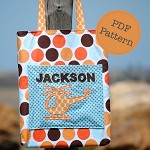 Library Tote Bag Pattern. PDF Sewing Pattern, School, Kindy, Personalised Bag