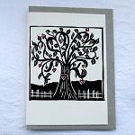 love grows linocut letterpress greeting card