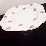 Victoria Stand Cupcake Upcycled Vintage Rose Flower Pink Party Jewellery