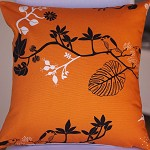 Orange Twitter Cushion