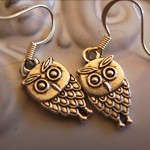 owl earrings silver tone  hoot hoot hoot earring owls