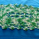 Oval Doily - variegated green