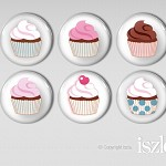 6 Magnet Gift Set - Cup Cakes 2