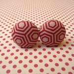 Red hexagon cufflinks