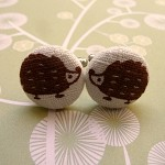 Brown hedgehog cufflinks